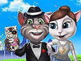 Говорящий Том и кошка Анжела время селфи