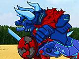 Роботы трансформеры: тиранозавр и трицератопс