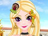 Рисунки на лице Эльзы на День благодарения