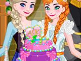 Холодное сердце: свадебный торт Анны