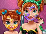Прохождение игры Макияж Холодное сердце: Анна и дочь