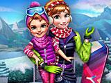 Холодное сердце зимние игры Анны
