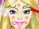Макияж девочки Барби