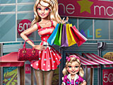 Покупки Супер Барби и дочери