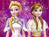 Эльза и Анна новогодняя вечеринка