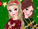 Эльза и Анна новогодние свитера
