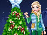 Холодное сердце новогодняя елка Эльзы