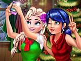 Леди Баг и Эльза селфи Новый год
