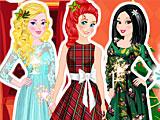 Принцессы Диснея новогоднее фото