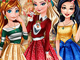 Принцессы Диснея новогодняя страна