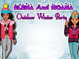 Прохождение игры Принцессы Диснея: зимняя вечеринка Моаны и Елены