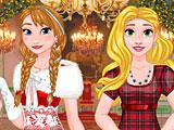 Принцессы Диснея бал на Новый год