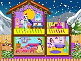 Прохождение игры Принцессы Диснея новогодний кукольный домик