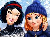 Принцессы Диснея зимние развлечения