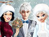 Принцессы Диснея зимняя свадьба Эльзы