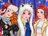 Принцессы Диснея зимняя фотосессия