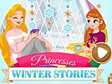 Принцессы Диснея зимние истории