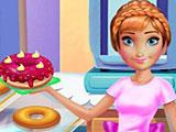 Анна готовит пончики