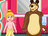 Маша и Медведь идут в школу