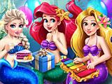 Принцессы Диснея на дне рождения Ариэль