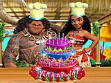 Моана готовит торт