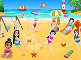 Принцессы Диснея игры на пляже