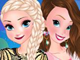 Прохождение игры Эльза и Анна коктейльные платья