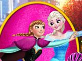 Эльза и Анна на роликах