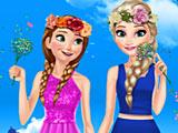 Весенний день Эльзы и Анны