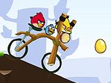 Месть Angry Birds на велосипеде