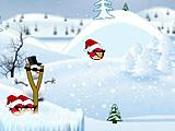 Angry birds: новогодний космос