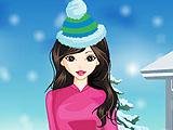 Милая зимняя девушка