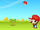 Марио пинает грибы