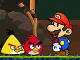 Марио против Angry birds