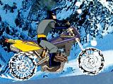 Бэтмен на зимнем мотоцикле