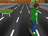 Бен 10: скейтборд на шоссе