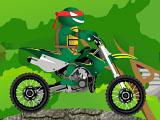 Черепашки ниндзя на мотоцикле