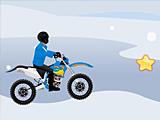 Зимняя гонка на мотоцикле