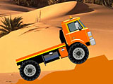 Гонка грузовика в пустыне