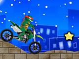 Черепашки ниндзя на мотоцикле 2