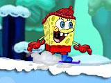 Губка Боб на сноуборде