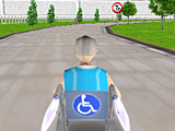3Д гонка на инвалидной коляске