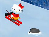 Hello Kitty на лыжах