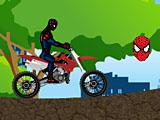 Гонка Спайдермена на мотоцикле