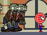Спайдермен бежит от зомби