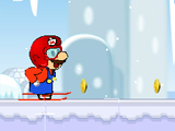 Марио на лыжах