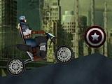 Капитан Америка: ускорение на мотоцикле