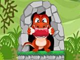 Динозавр ест мясо