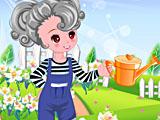 Одевалка: девушка в саду