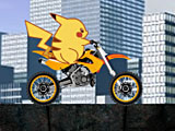 Путешествие Пикачу на мотоцикле